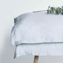Coco & Cici zacht, luxe en duurzaam beddengoed - kussensloop 50 x 60 - blauw grijs