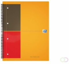 Grijze Oxford INTERNATIONAL Notebook Connect zonder scanbare pagina's 160 bladzijden formaat A5+ geruit 5 mm