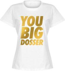 Retake You Big Dosser Goud Dames T-shirt - Wit - S