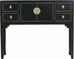 Gouden Fine Asianliving Chinese Sidetable Onyx Zwart - Orientique Collectie B100xD26xH80cm Chinese Meubels Oosterse Kast