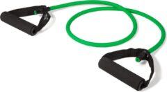 Matchu Sports - Fitness Elastiek met handvat - Medium (groen) - Met handvatten