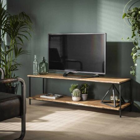 Afbeelding van Naturelkleurige LifestyleFurn TV-meubel 'Rick' Acaciahout, 150cm