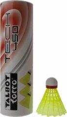 Talbot Torro Badminton Shuttles Tech 450 Geel/rood 6 Stuks