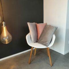 Antraciet-grijze Viva Kussen – Sierkussen – Kussens Woonkamer – Luxe Kussen – Zacht – Velvet – 50x30 cm – Antraciet