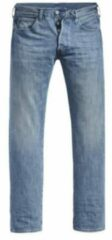 Levi's Big and Tall straight fit jeans 501 light indigo worn in