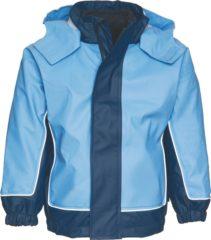 Donkerblauwe Playshoes Winter Playshoes Regenjas Kinderen - Donkerblauw/Blauw - Maat 80