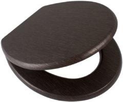 Douche Concurrent Toiletbril AWD Softclose Toiletzitting 43.4x37.3cm MDF Wenge