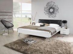 Rauch-PACKs Bett 140 x 200 cm mit Nako-Set alpinweiß/ Kunstleder schwarz RAUCH PACKS Mavi Base