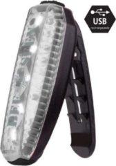 Witte Led clip light USB - WHITE - led armband usb - veiligheid - multi use light - honden lampje - fietsverlichting - lampje op je veters - tas lampje - bee seen