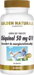 Golden Naturals Ubiquinol 50 mg Q10 (60 veganistische capsules)