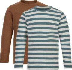 Groene Minymo T-shirt Junior Katoen 2 Stuks Maat 122