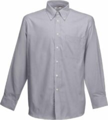 Fruit Of The Loom Heren Oxford-Shirt Lange Mouwen (Oxford Grijs)
