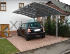 Ximax Portoforte 170 Carport Edelstahl-Look