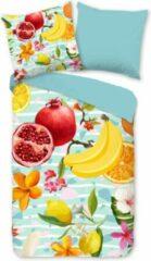 Rode Hoogwaardige Katoen Eenpersoons Dekbedovertrek Fruits   140x200/220   Fijn Geweven   Ademend En Zacht