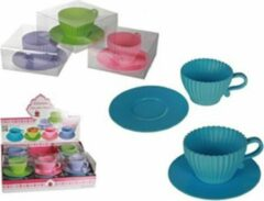 Blauwe Out of the Blue Cupcake bakvormen (set van 4)