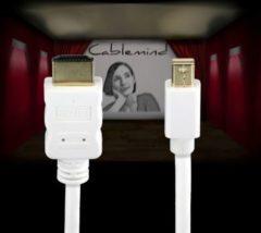 Cablemind Mini DisplayPort/HDMI 1080p Adapterkabel in Weiß, verschiedene Längen Länge: 2 m