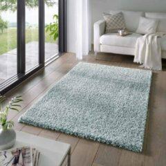 Tapeso Hoogpolig vloerkleed effen Classic - lichtblauw 60x90 cm