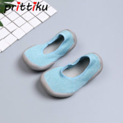 Bambino Children Indoor Home Casual Slippers Baby Toddler Boy Socks Little Girl House Sneakers Kid Barefoot Elastic Fabric Knitted Shoes