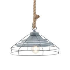 Mexlite Hanglamp Touw - Landelijke hanglamp - Bronq Lissa - Grijs