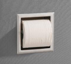 Saniclear Exclusive inbouw toiletrol houder zonder klep rvs