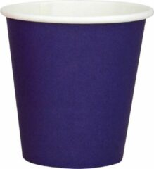 DispoDeals 20x 50 Blauwe papieren feest bekertjes 180ml - Wegwerpbekertjes blauw 180ml (1000 stuks)
