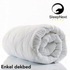 Witte SleepNext HQ ***** Luxe Hotel enkel dekbed heel jaar - 260x220cm - Extra breed