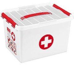 Transparante Opbergbox Sunware Q-Line First Aid Met Inzet 22L 40 X 30 X 26Cm