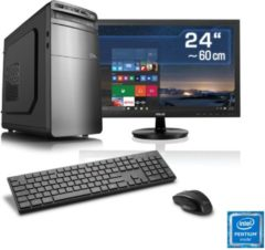 "CSL Gaming PC Set | Pentium G4560 | GTX1050 Ti | 8GB | SSD | 24\"""" TFT »Speed T1897 Windows 10 Home«"