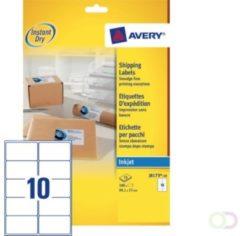 Witte Merkloos / Sans marque Avery White Address Label - Inkjet - J8173