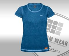 Blauwe Ice Cold .. T-Shirt Slim fit Denim Blue - Maat L - Off Side - incl. Gratis rugzak