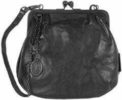 Zwarte Aunts & Uncles Grandma's Luxury Club Mrs. Fortune Cookie Crossover Bag black smoke Damestas