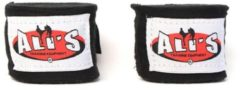 Ali's Fightgear 1 paar zwarte kleur 250 cm lange bandage-bandages voor boxing-boksen-kickboksen-muaythai-mma-thaiboksen