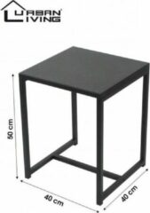 Urban Living Bijzettafel - Koffietafel - Side table - Vierkant - Industrieel design - Metalen blad & Metalen frame - 40 x 40 x 50 cm