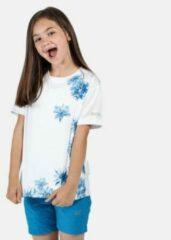 Regatta - Kid's Alvardo V Graphic T-Shirt - Outdoorshirt - Kinderen - Maat 7-8 Jaar - Wit