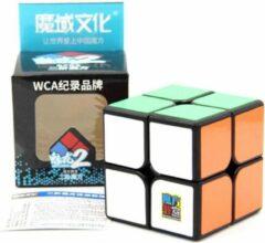 2x2 Speed Cube Zwart - Draai Kubus Puzzel - Magic Cube - Moyu Meilong