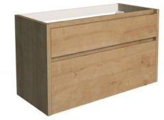 Onderkast Allibert Aston 100x46x59,8 cm Soft-Close Lades Eiken (bijpassende wastafel optioneel)