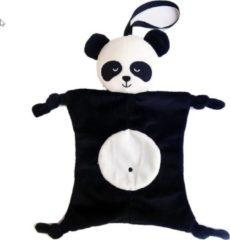 Woezy - Knuffeldoek Pipa - Panda - Stof - Zwart - Kraamcadeau - Knuffels - Baby