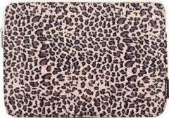 Gele Somstyle Laptophoes 14 Inch - Laptop Sleeve - Case - Panterprint