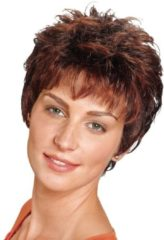Perücke Peggy Lofty Mittelbraun/Kupfermaron gesträhnt