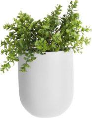 Present Time Bloempotten Wall Plant Pot Oval Ceramic Matt Wit