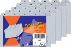 Alfabet HF2 tabkaarten 110 x 148 mm pp grijs