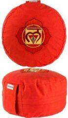 Rode Zenzes Meditatiekussen Chakra een Muladhara - oranje