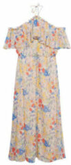 Mango gebloemde semi transparante halter jurk lichtroze blauw geel