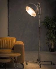 Zaloni Vloerlamp industry van 150 cm hoog - Oud zilver