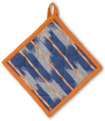 Pannenlap, Oranje / Blauw - Kela | Ethno