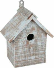 WorldPet Flamingo Nestkastje gradus hout blauw/bruin 17x11x20cm