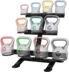 Zwarte Gorilla Sports Kettlebell Standaard voor 11 kettlebells (Staal)