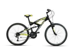 24 Zoll Fully Mountainbike 18 Gang Montana CRX Wham schwarz-gelb