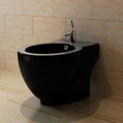 VidaXL Ronde staande keramieken bidet (zwart) VDXL 140666