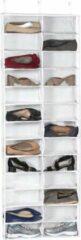 Merkloos / Sans marque TJ Store® - Wit - Deur Schoenenrek - Schoenen Opbergen - schoenrek - rek voor schoenen - deurrek - schoen deurkast - schoenenrek - hangende Opbergtas - organizer - opbergzak - opbergsysteem - schoen opbergrek - schoenen opbergsystee